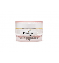 "LED/UV Soak Off Bio Gelis ""Prestige"" Skaidrus 15ml"