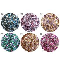 Hexagon Multicolor  Blizgučių rinkinys Nr.1