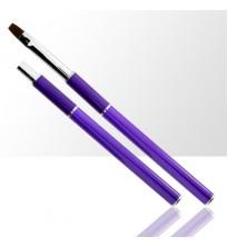 Sudedamas violetinės spalvos teptukas geliui Dydis Nr.4